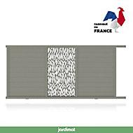 Portail Jardimat coulissant aluminium Neva 3 gris 7039 - 350 x h.174 cm