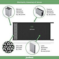 Portail Jardimat coulissant aluminium Olivier noir 2100 - 350 x h.169 cm