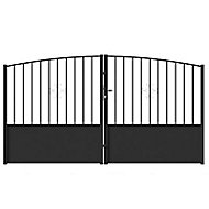 Portail Jardimat fer Bergamote noir - 300 x h.150/180 cm