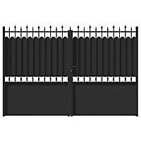 Portail Jardimat fer Ronchaux noir - 300 x h.185 cm
