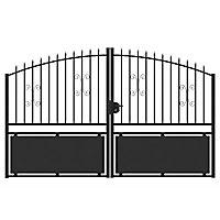 Portail Jardimat métal Gordes noir - 300 x h.150/170 cm