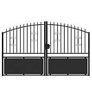 Portail Jardimat métal Gordes noir - 350 x h.150/170 cm