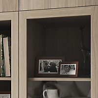 Porte battante effet chêne en verre GoodHome Atomia H. 187,2 x L. 37,2 cm