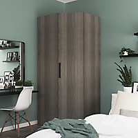 Porte battante effet chêne grisé GoodHome Atomia H224,7 x L. 49,7 cm