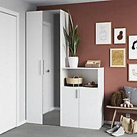 Porte battante miroir argent GoodHome Atomia H224,7 x L. 37,2 cm