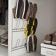Porte chaussure à fixer acier blanc Form Pratik 48 cm