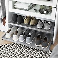 Porte chaussures coulissante en acier gris GoodHome Atomia L. 71,4 x P. 50 cm