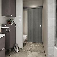 Porte coulissante Alpille effet bois gris H.204 x l.83 cm