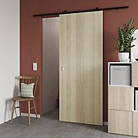 Porte coulissante Alpille effet chêne naturel H.204 x l.83 cm