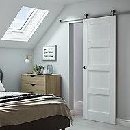 Porte coulissante blanche 4 panneaux H.204 x l.83 cm