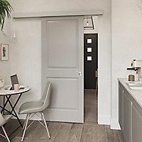 Porte coulissante Camargue blanc H.204 x l.83 cm