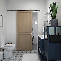 Porte coulissante Camargue effet chêne naturel H.204 x l.83 cm