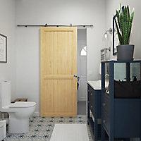 Porte coulissante Camargue pin H.204 x l.83 cm