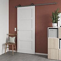 Porte coulissante Connemara 4 panneaux blanc H.204 x l.83 cm