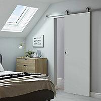 Porte coulissante Exmoor blanche H.204 x l.83 cm