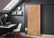 Porte coulissante Exmoor chêne H.204 x l.83 cm + système coulissant Oléni