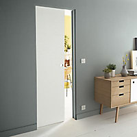 Porte coulissante Geom Summa blanchi H.204 x l.83 cm
