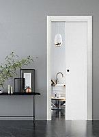 Porte coulissante Geom Summa blanchi H.204 x l.93 cm