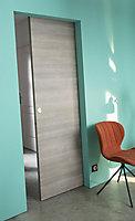 Porte coulissante GEOM Summa gris clair H.204 x l.73 cm
