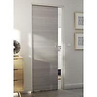 Porte coulissante Geom Summa gris clair H.204 x l.83 cm