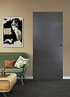 Porte coulissante Geom Summa grise H.204 x l.83 cm