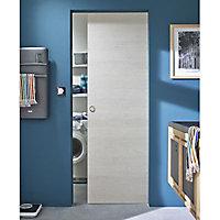 Porte coulissante Geom Summa matrix écru H.204 x l.73 cm