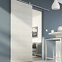 Porte coulissante Geom Summa matrix écru H.204 x l.93 cm