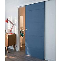 Porte coulissante gravée horizontal H.204 x l.93 cm