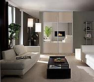 Porte coulissante gris effet chêne Form Valla 92,2 x 250 cm