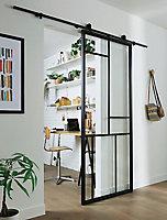 Porte coulissante patchwork H.204 x l.83 cm