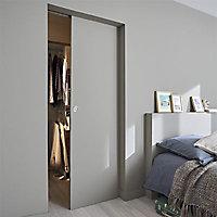 Porte coulissante prépeinte blanche H.204 x l.73 cm