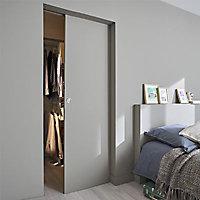 Porte coulissante prépeinte blanche H.204 x l.93 cm