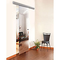 Porte coulissante verre miroir Geom Reflecto H.204 x l.73 cm