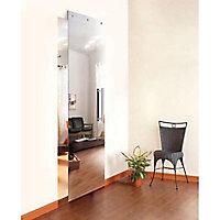 Porte coulissante verre miroir Geom Symetry H.220 x l.105 cm