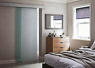 Porte coulissante vitrée dépolie Kidal H.204 x l.83 cm