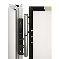 Porte d'entrée acier Inserts blanc trafic 90 x h.215 cm poussant gauche
