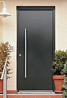 Porte d'entrée acier Toubkal 90 x h.215 cm poussant droit