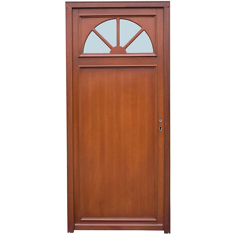 porte d'entrée bois dives 90 x h215 cm poussant gauche