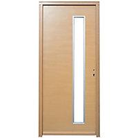 Porte d'entrée bois Meije 90 x h.215 cm poussant gauche