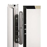 Porte d'entrée Vitrée grise 90 x h.215 cm poussant gauche