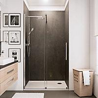 Porte de douche coulissante, 100 x 200 cm, Schulte NewStyle, verre transparent anticalcaire