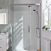 Porte de douche coulissante Cooke & Lewis Pure transparent 140 cm