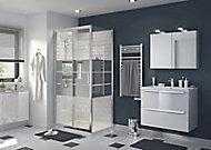 Porte de douche coulissante GoodHome Beloya miroir 100 cm