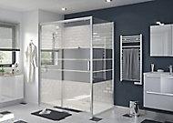 Porte de douche coulissante GoodHome Beloya miroir 160 cm