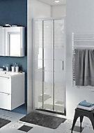 Porte de douche coulissante GoodHome Beloya miroir 80 cm