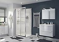 Porte de douche coulissante GoodHome Beloya transparente 100 cm