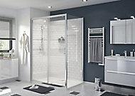Porte de douche coulissante GoodHome Beloya transparente 140 cm