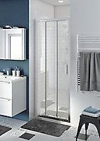 Porte de douche coulissante GoodHome Beloya transparente 80 cm