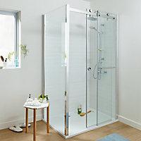 Porte de douche coulissante GoodHome Naya transparent 120 cm