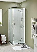Porte de douche en angle Cooke & Lewis Zilia transparent 80 cm